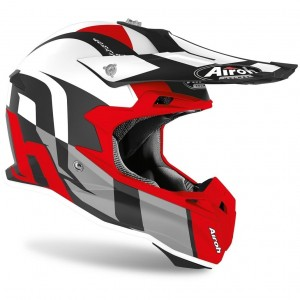 Kask AIROH Terminator Open Vision Shot Red Matt