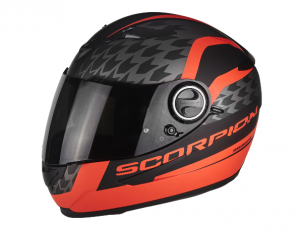 Kask Scorpion EXO-490 Genesis Matt Black-Neon Red