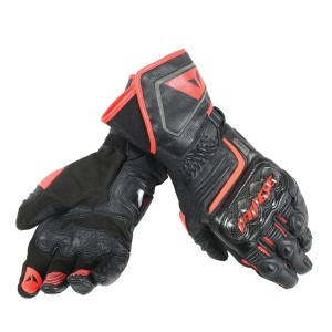 Rękawice Dainese Carbon D1 Long Black/Red-Fluo