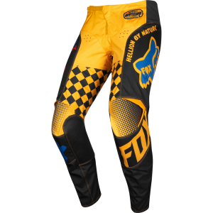 Spodnie off-road Fox 180 CZAR Black/ Yellow 2019