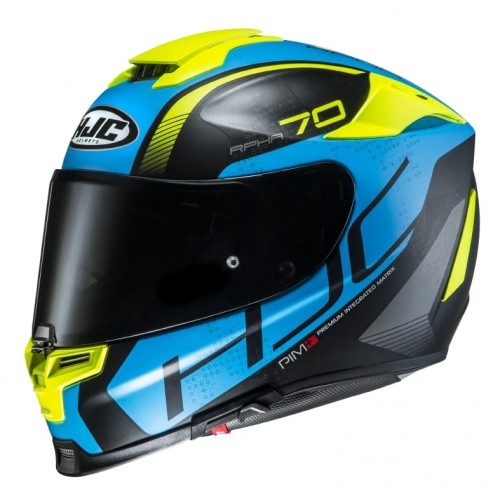 Kask integralny HJC RPHA 70 Vias Fluo Yellow/Blue
