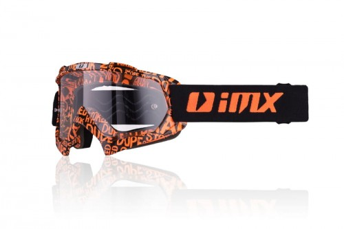 Gogle iMX Mud Graphic Orange/Black